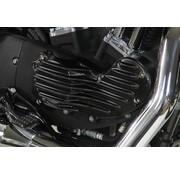 Wyatt Gatling Aluminium Ribeye Style Nockenabdeckung mit schwarzem Finish Halterung, Passend für: XL 1991-2015