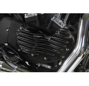 Wyatt Gatling Engine Aluminum ribeye style cam cover trim with Black Fits: > 1991-2015 XL Sportster