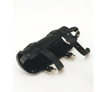 Texas leather tassen Black Texas Leather bidonhouder alleen