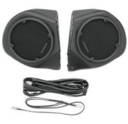 Hogtunes audio  vinyl covered rear speaker pods Fits:> 98-13 models with radio and king tour pak