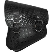 La Rosa tassen zadeltas zwart alligator uni