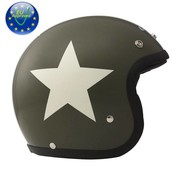 DMD helmet star green