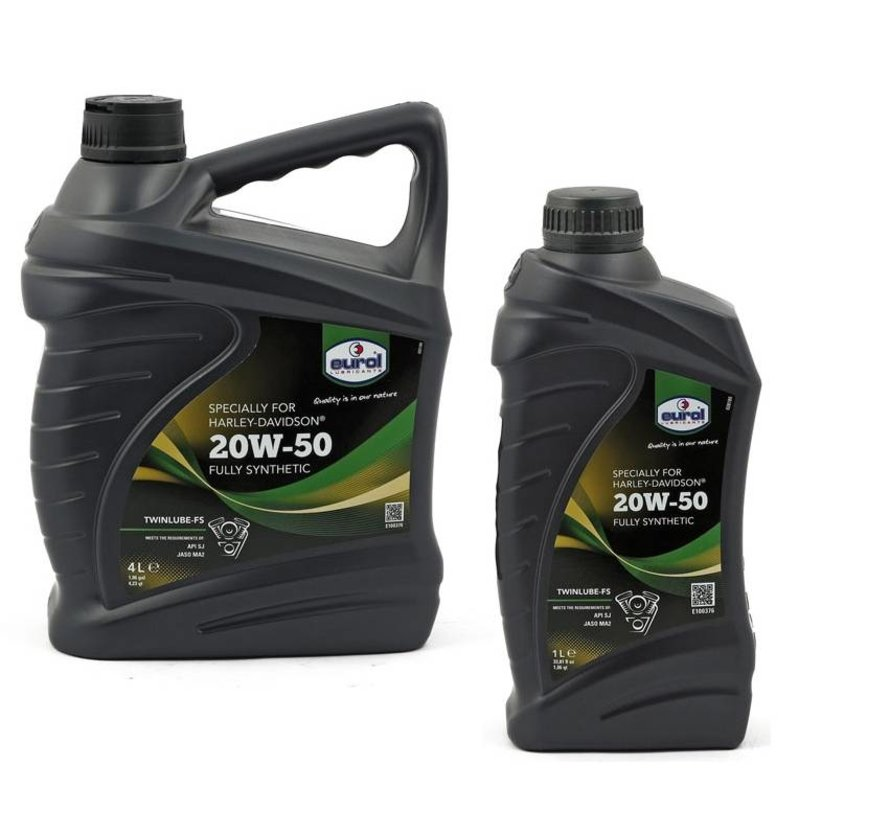 Eurol Harley Davidson Oil Sae 20W50 twinlube-3 engine primairy and  transmission synthetic V-Twin engines