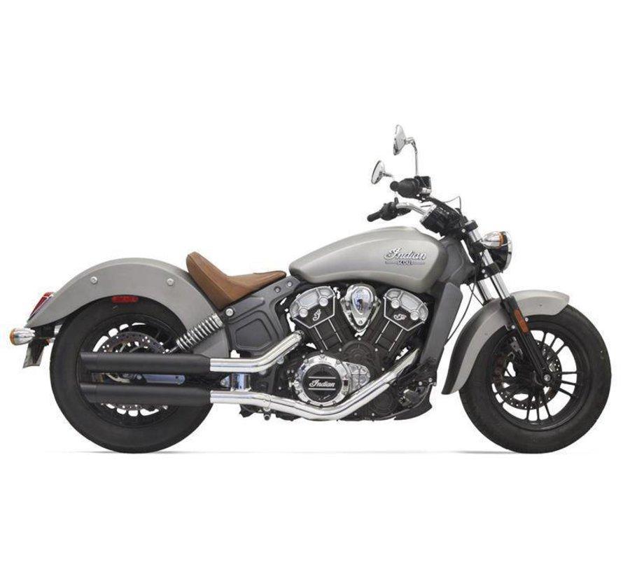 "Indian Motorcycle Mufflers 3 ""Scout, schwarz"
