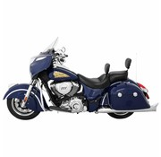 Mustang backrest passenger with nickel studs - Indian