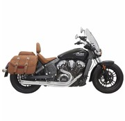Bassani Exhaust System Road Rage 2-Into-1 With Short Change Megaphone Muffler Chrome for 15-16 Indian Scout