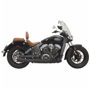 Bassani Exhaust System Road Rage 2-Into-1 With Short Change Megaphone Muffler Black - for 15-16 Indian Scout