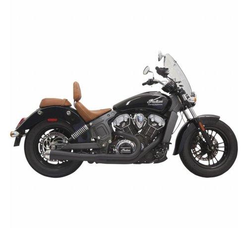 Bassani Indian Motorcycle Auspuffanlage Road Rage 2-In-1 mit kurzen Wechsel Megafon Muffler Black - für 15-16 Indian Scout