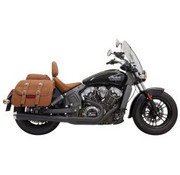 Bassani Exhaust System Road Rage 2-Into-1 With Long Change Megaphone Muffler Black - for 15-16 Indian Scout
