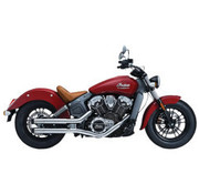 Crusher Maverick 2,5 inch slipdempers 2 in 2 chroom - voor Indian Scout