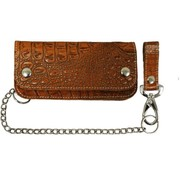 La Rosa heavy leather - alligator brown Fits: >  all Biker