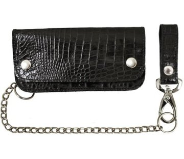La Rosa Accessories heavy leather - alligator black