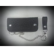 La Rosa Accessories heavy leather - black ostrich