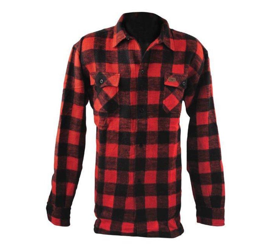 Accessoires geruit overhemd - zwart en rood
