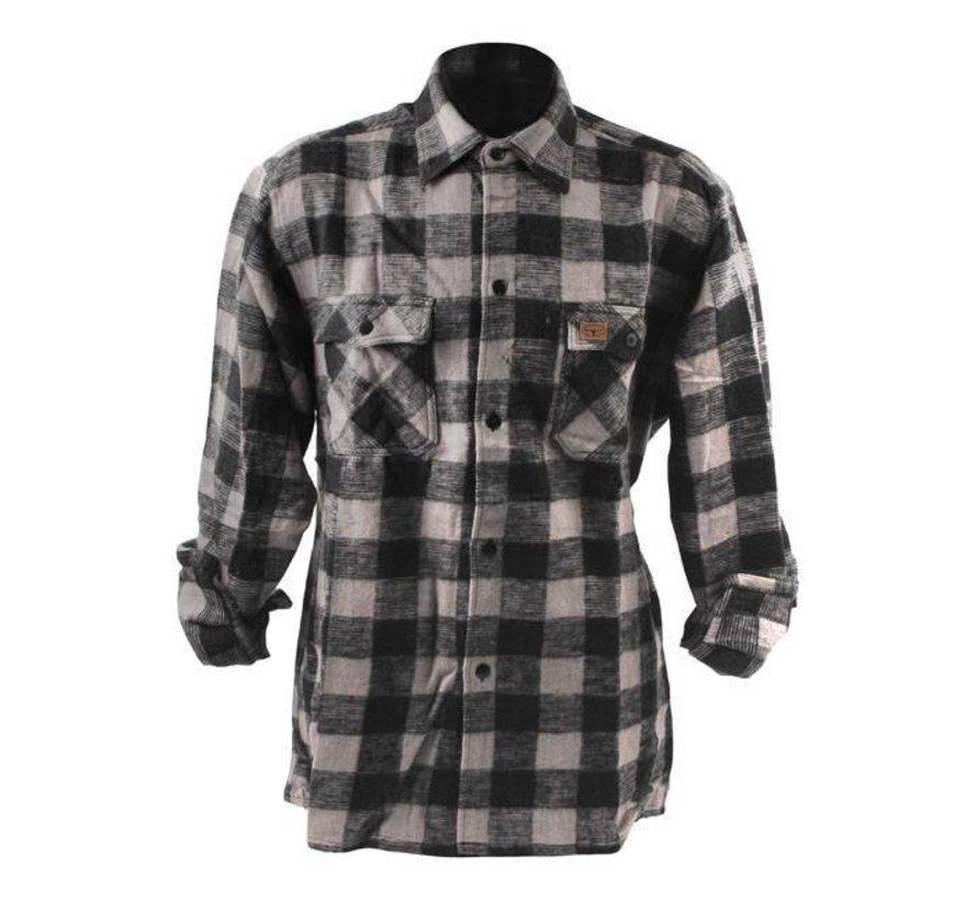 Accessoires geruit overhemd - zwart en grijs