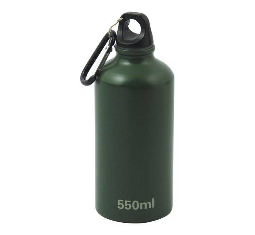 Accessoires aluminium fles groen - 500ml