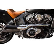 Trask exhaust 2 into 1 System Chrome / black Ceramic-Coated for Indian Scout