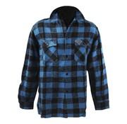 101inc chemise à carreaux - noir et bleu