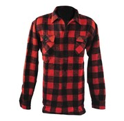 101inc camisa a cuadros - negro y rojo