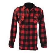 101inc chemise à carreaux - noir et rouge
