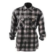 101inc chemise à carreaux - noir et gris