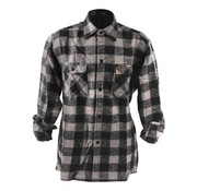 101inc kariertes Hemd - schwarz und grau