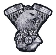 Lethal Threat Accessories biker patch - v-twin engine