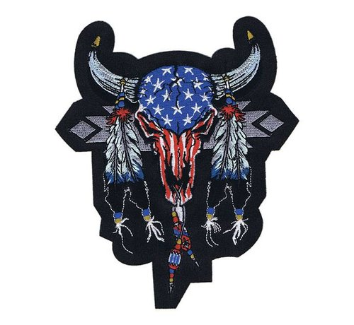 Lethal Threat Accessoires biker patch - cowskull