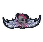 Lethal Threat biker patch - winged girl skull