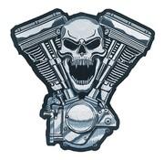 Lethal Threat biker patch - engine skull