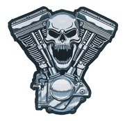 Lethal Threat Biker Patch - Motor SchÃĊdel