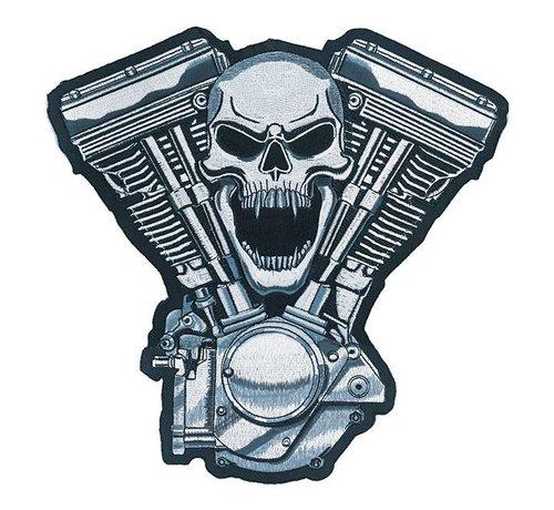 Lethal Threat Accessoires biker patch - motor schedel