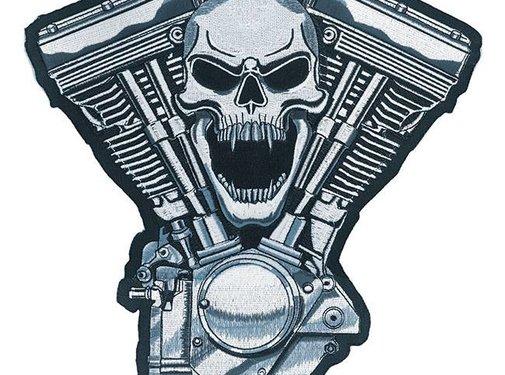 Lethal Threat Accessories biker patch - engine skull