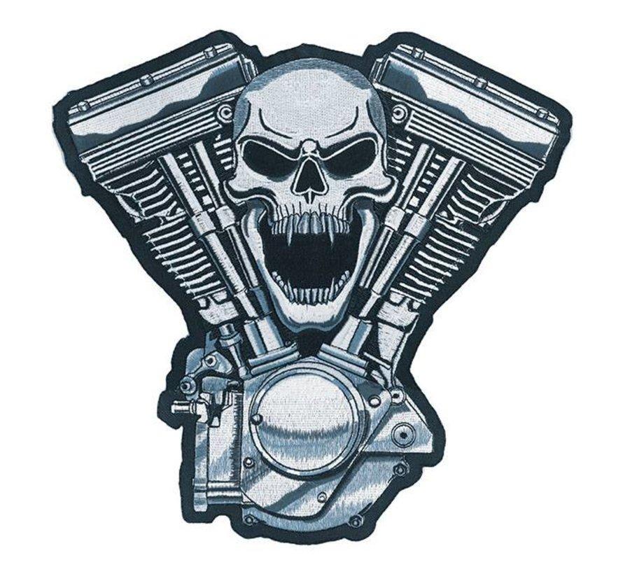 Accessoires biker patch - motor schedel