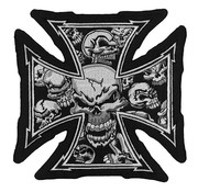 Lethal Threat Accessories biker patch - malteze cross - skull