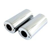 MCS front fork suspension upper slider - Chrome