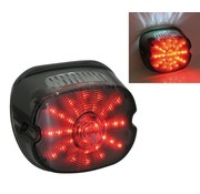 Zodiac LED taillight lens dark, top tag window, fits on most 1989 -1999 HD models
