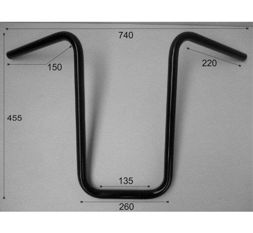 """Vandema products 1 """"Stuur Narrow Ape Hanger hoog 17 inch (44 cm), zwart of chroom"""