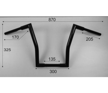 Vandema products Fat Square Low Ape Hanger (12 inch) 30cm high