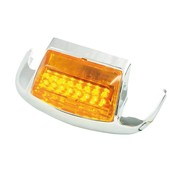 MCS fender front  tip Amber LED Fits:> 80-99 FL/FLT/FLSTC