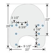 Memphis Shades pare-brise de rechange clair 99-18 FLHR avec OEM HD Shield