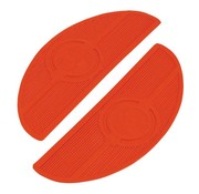 TC-Choppers Controls floorboard pads Oval 40-84 FL - Red