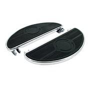 entarimados, estilo antiguo oval, 40-84 FL; Negro o Chrome