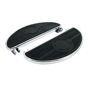 TC-Choppers floorboards, oval old style, 40-84 FL; Black or Chrome