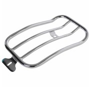 Motherwell 7 inch  Solo Luggage Rack black or chrome Softail Low Rider Fits: >18‑20 FXLR
