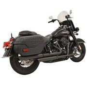 Bassani Straggered Duals Black or Chrome 2018-up - Heritage & Deluxe