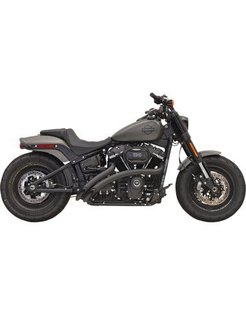 Sweeper Radius 2-Into-2 Black or Chrome  2018-up - Softail Models
