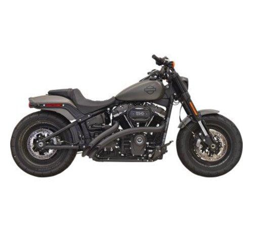Bassani Harley Davidson Sweeper Radius 2-Into-2 Black of Chrome 2018-up - Softail-modellen