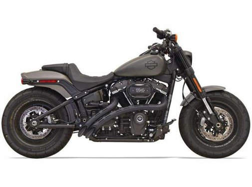 Bassani Radial Sweepers/Black Slotted Heat Shields  2018-up - Softail Models