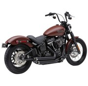 Cobra Speedster Short Auspuffanlage mit Race Pro Tips Schwarz oder Chrom 2018-Softail FL / FX - Copy